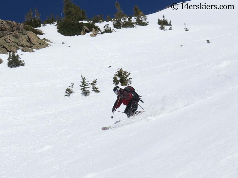 Mark Robbins backcountry skiing on Gothic Mountain.