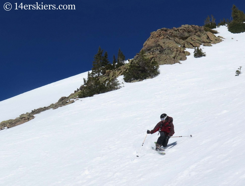 Mark Robbins backcountry skiing on Gothic Spoon.
