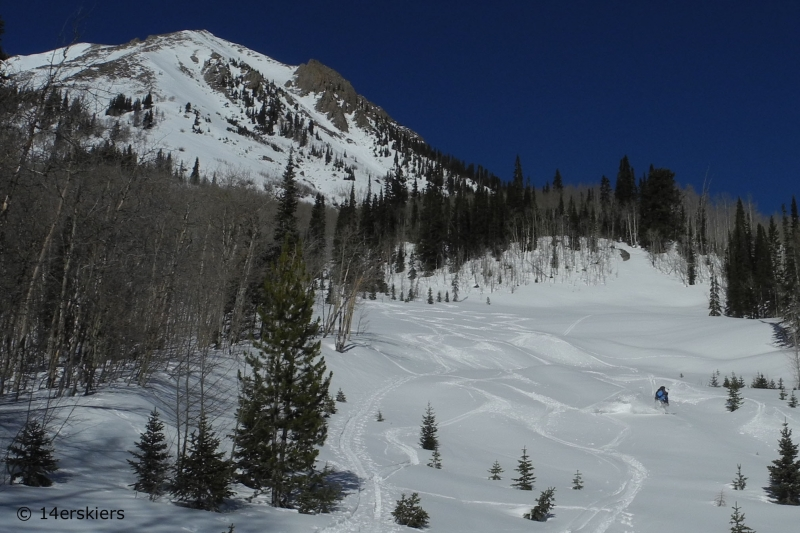 Backcountry skiing Gothic Spoon