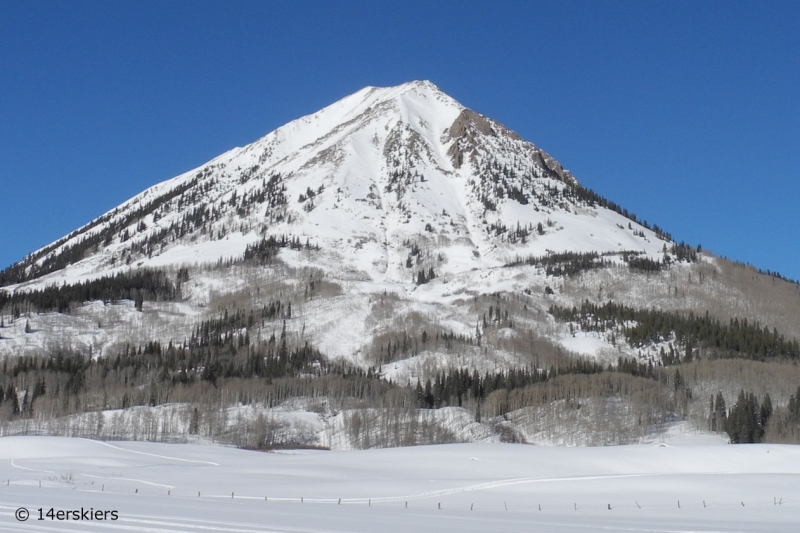 Gothic Mountain, the Spoon, backcountry skiing in Crested Butte