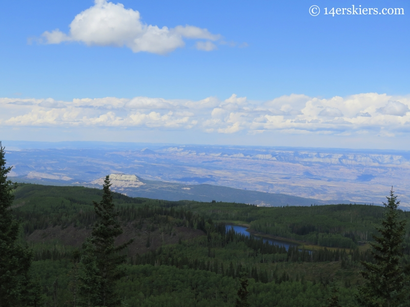 view NW on the Grand Mesa