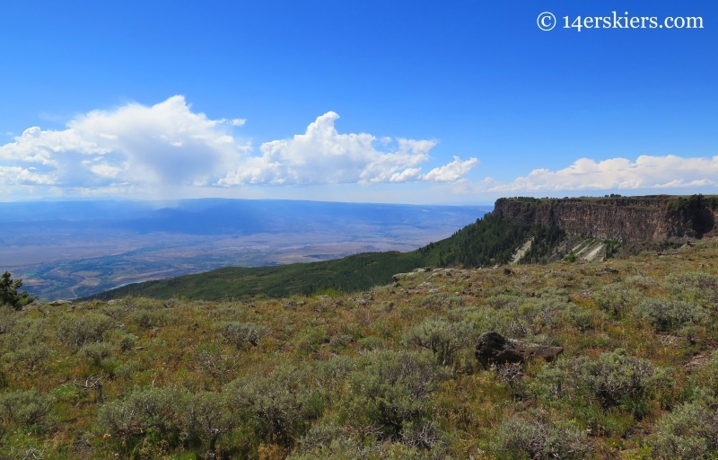 view westward on the Grand Mesa