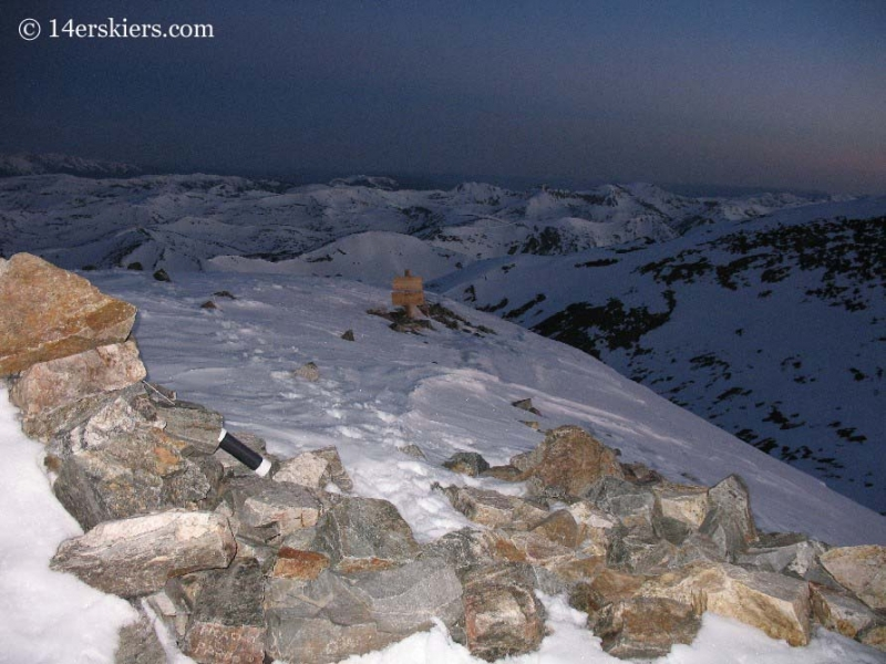 Sunrise on top of Grays Peak