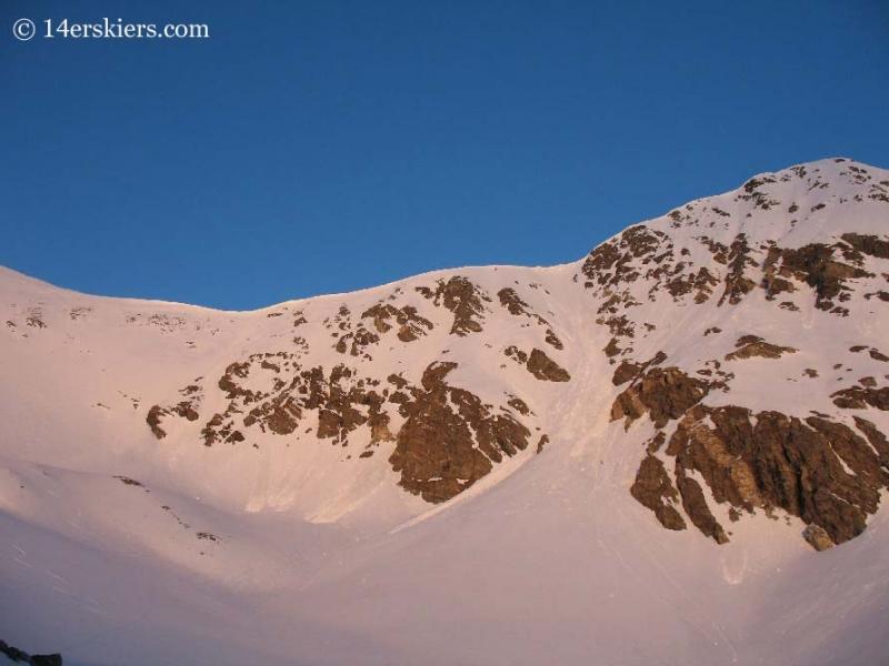 Torreys Peak just after sunrise.