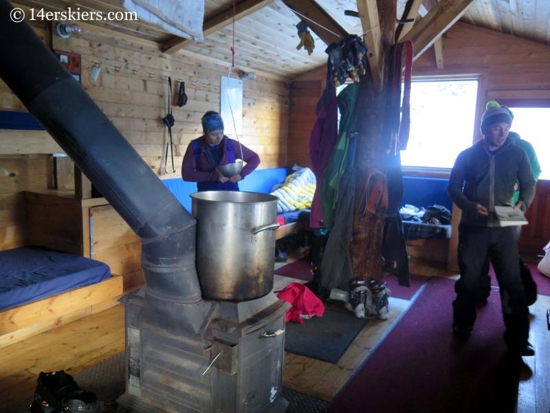 Inside the Green Wilson Hut