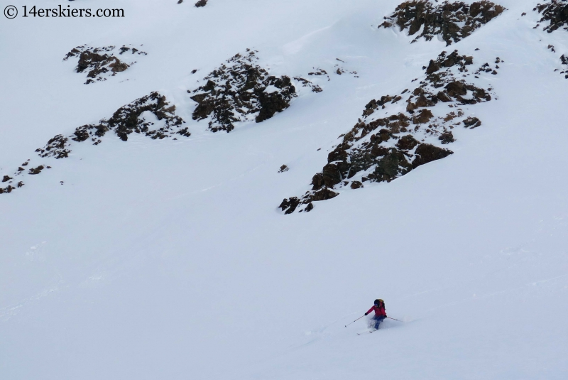 Skiing near Green Wilson Hut