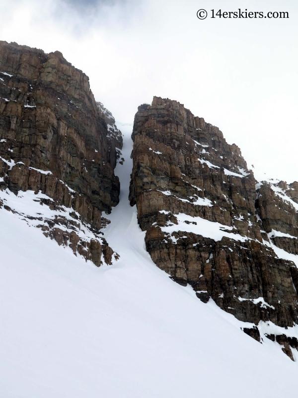 backcountry ski lines near Green Wilson Hut