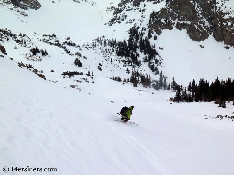 backcountry skiing slopes near Green Wilson Hut