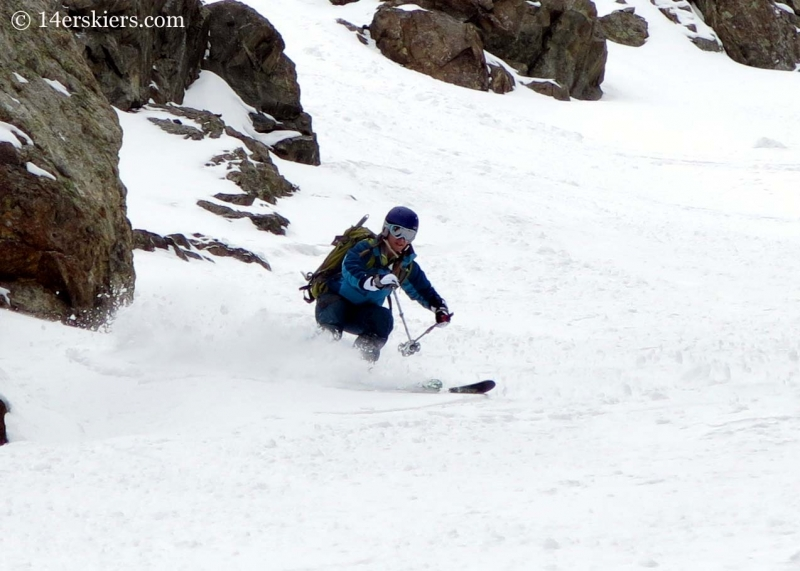 Brittany Walker Konsella backcountry skiing Grizzly Peak.