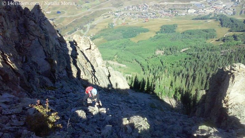 Approaching Guides Ridge on Mount Crested Butte