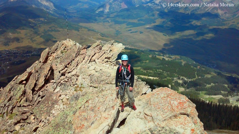 Brittany Konsella heading toward summit of Mount Crested Butte.