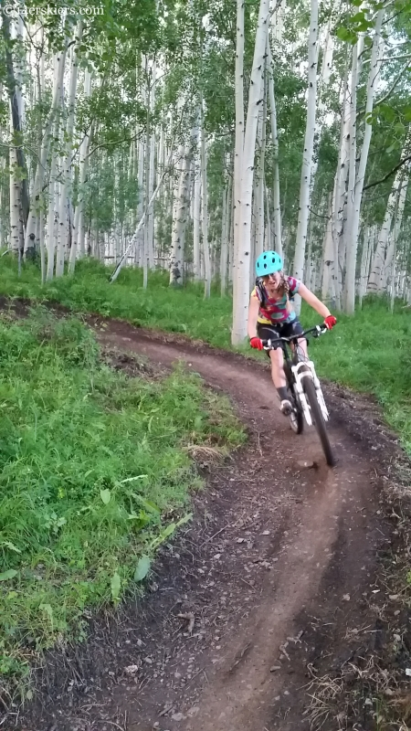 Alex reidman biking the Gunsight Connector trail in Crested Butte Colorado