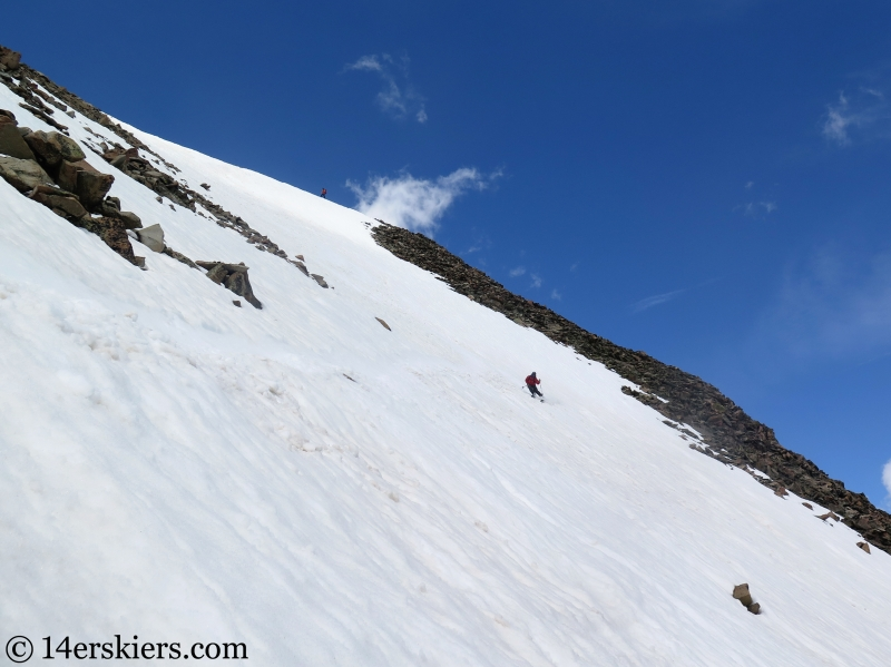 Backcountry skiing Mount Guyot