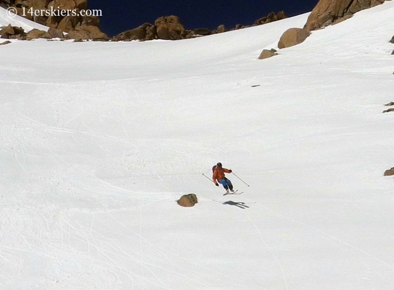 Gary Fondl backcountry skiing on Hagar Mountain.