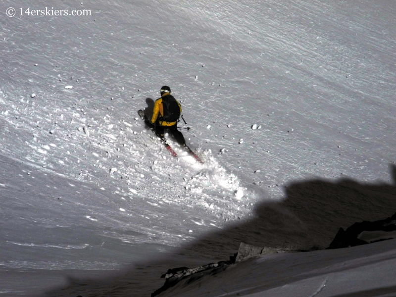 Dan backcountry skiing on Hagar Mountain.