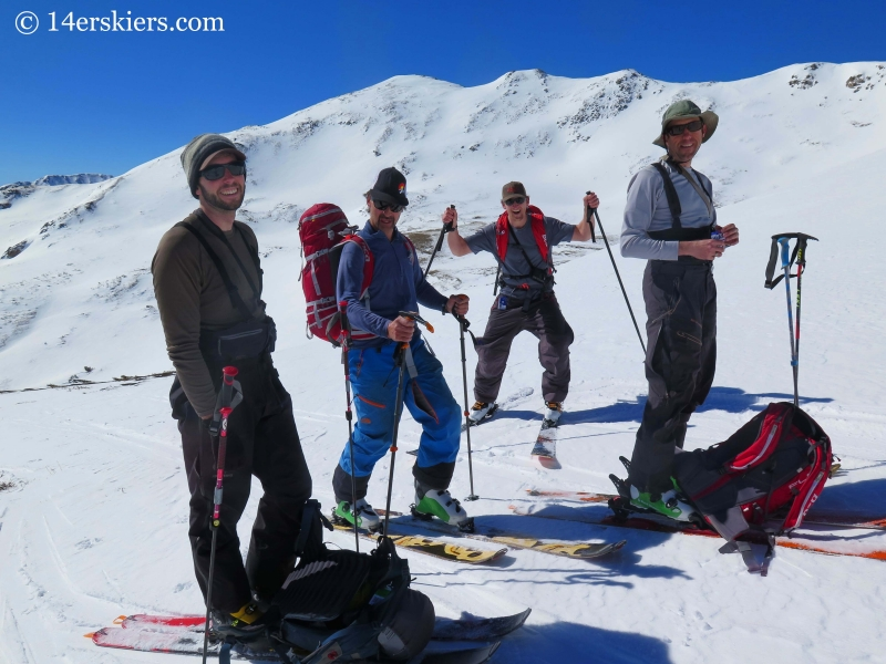 Backcountry skiers in Colorado
