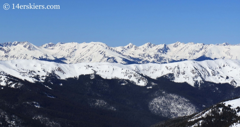 Gore Range seen from Hagar Mountain.