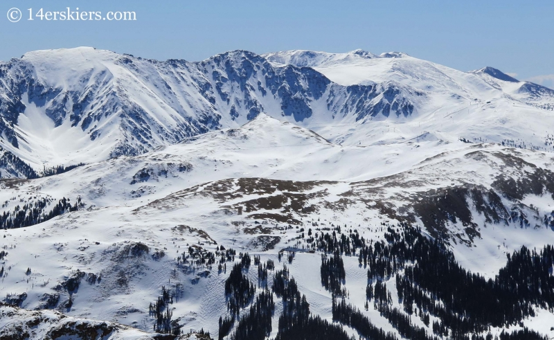 Loveland ski area seen from Hagar Mountain.