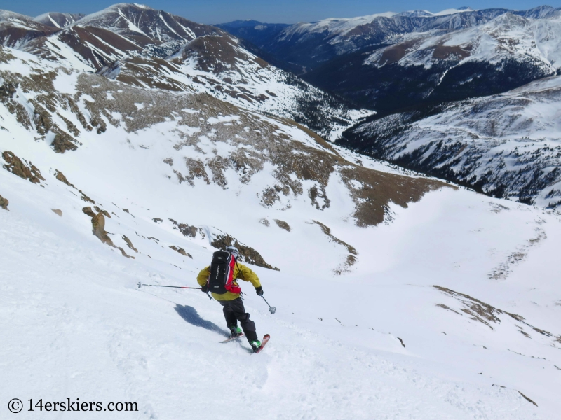Frank Konsella backcountry skiing on Hagar Mountain.