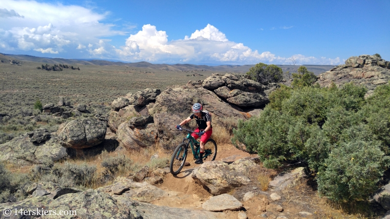 Mountain biking Hartman Rocks - Sawtooth