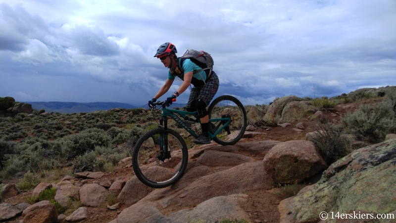 Mountain biking Hartman Rocks - Dave Moes