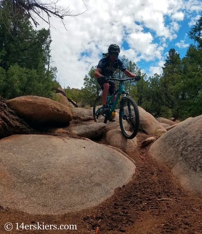 Mountain biking Hartman Rocks - Skull Pass