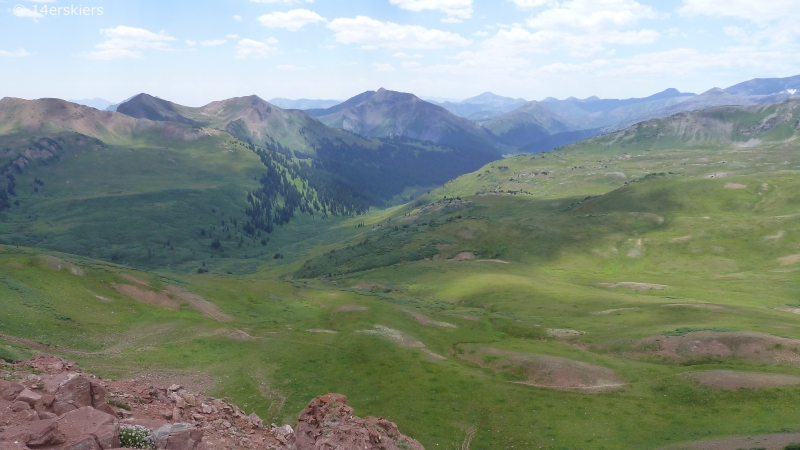 Hiking to Hasley Pass and Frigid Air Pass near Crested Butte, CO.