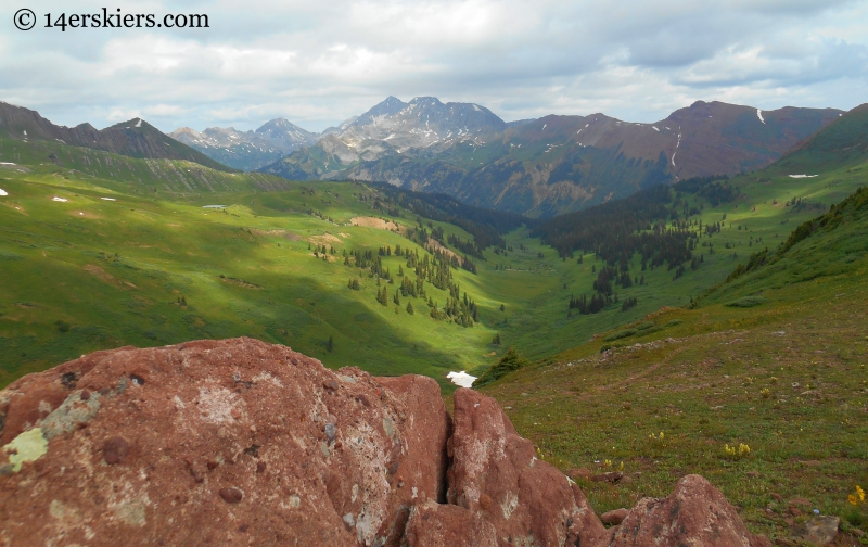 view of Snowmass from Hasley Pass.