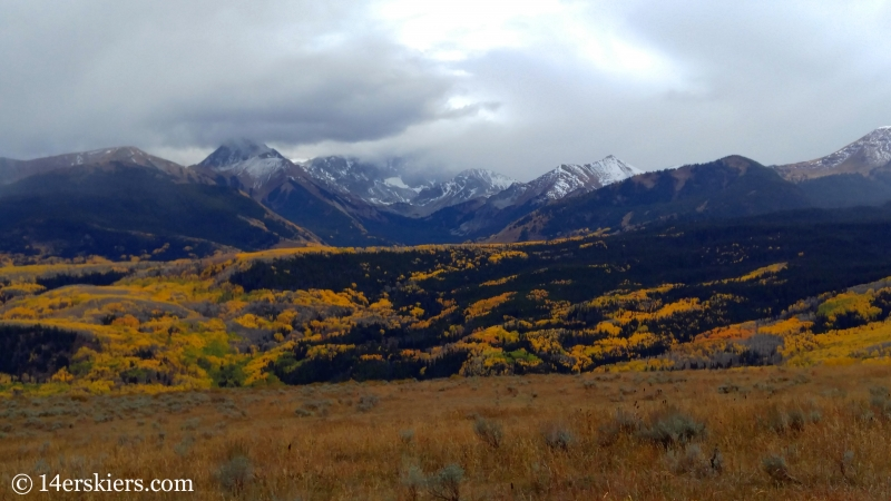 Views from trials near Hay Park near Mount Sopris.