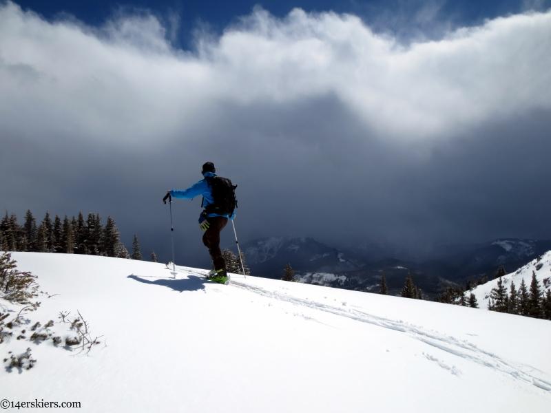 Chris Miller ascending Crested Butte