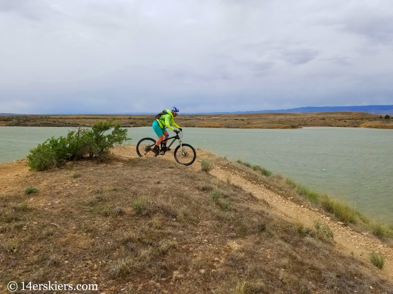 Mountain biking 101 - Highline Lake State Park near Loma, CO