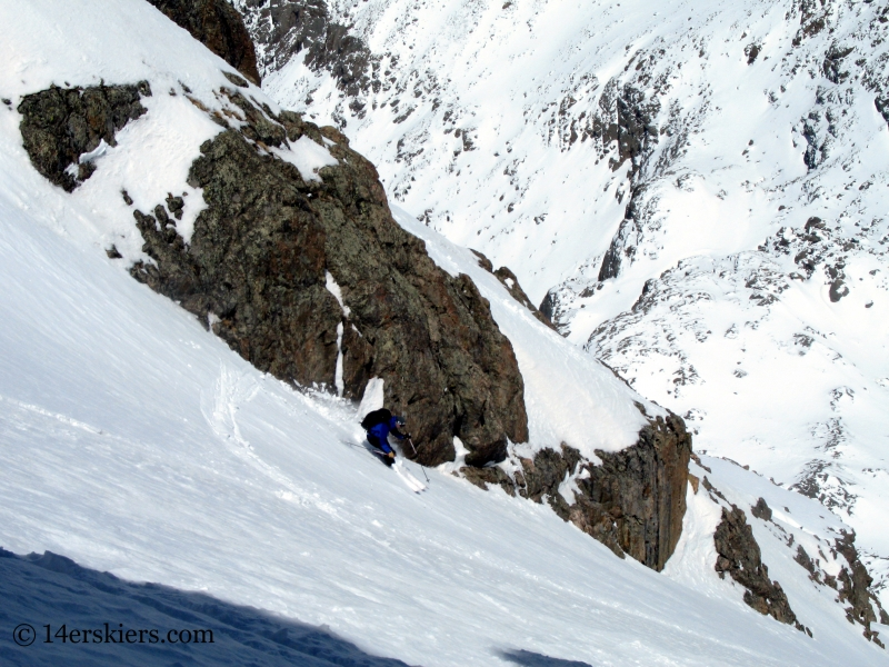 Pete Sowar backcountry skiing Mount of the Holy Cross