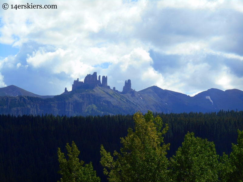 The Castles as seen on Swampy Pass Trail from Horse Ranch to Swampy Pass