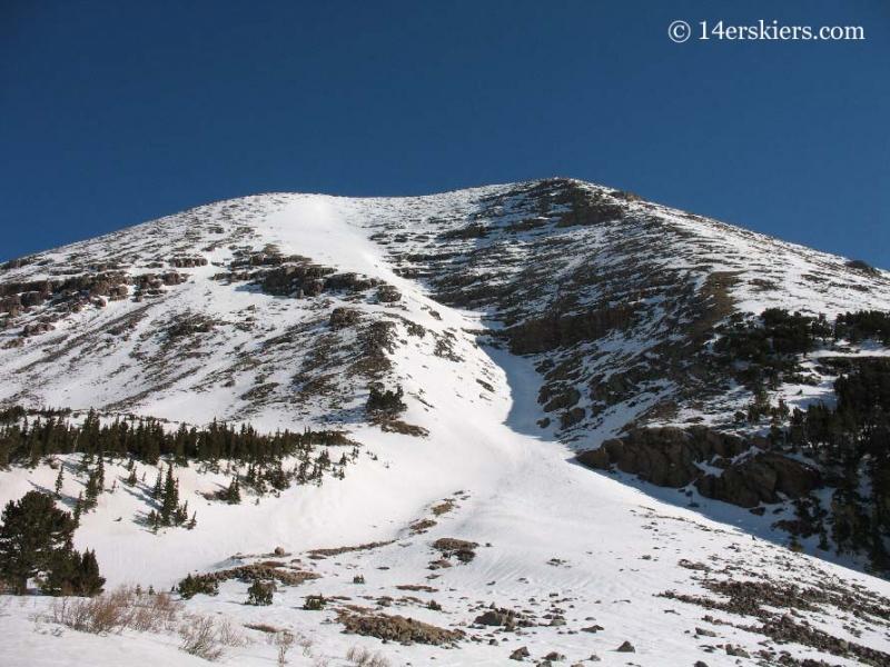 Ski line on Humboldt Peak