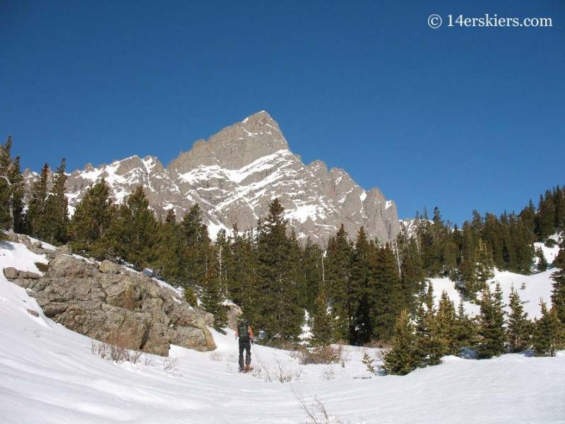 Backcountry skiing in the Sangre de Cristos