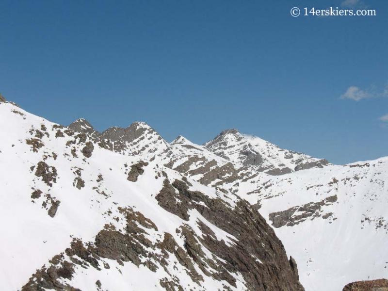views from summit of Humboldt Peak.