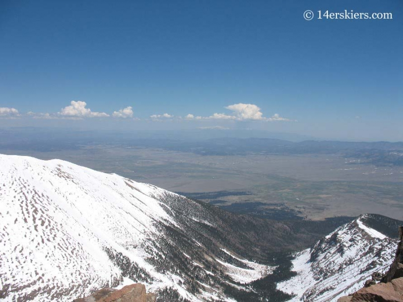 Westcliffe and valley seen from Humboldt Peak.