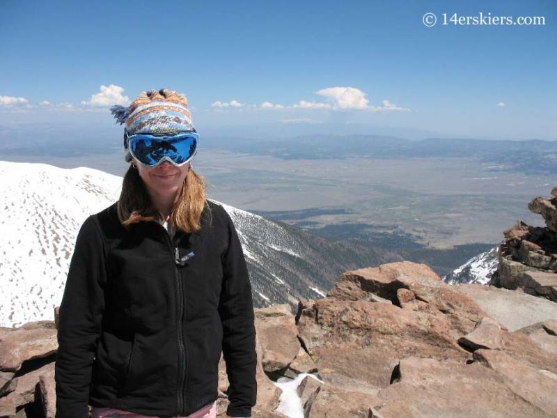 Brittany Konsella on summit of Humboldt Peak.