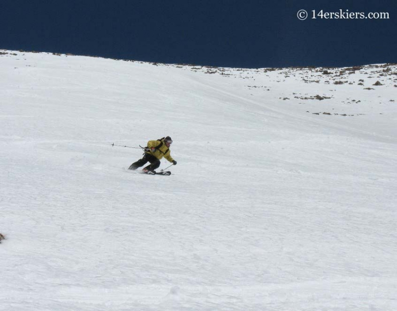 Frank Konsella backcountry skiing on Humboldt Peak.