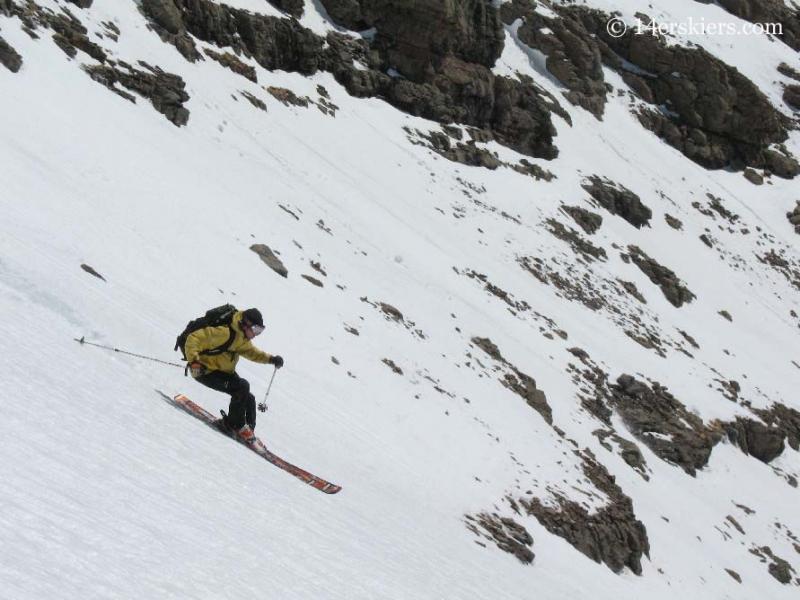 Frank Konsella backcountry skiing on Humboldt Peak.