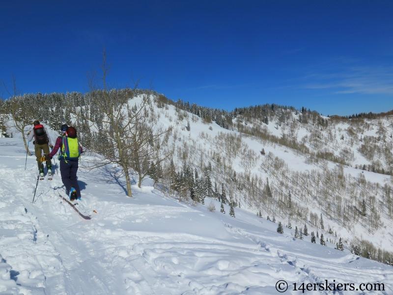 Huntsman Ridge backcountry skiing.