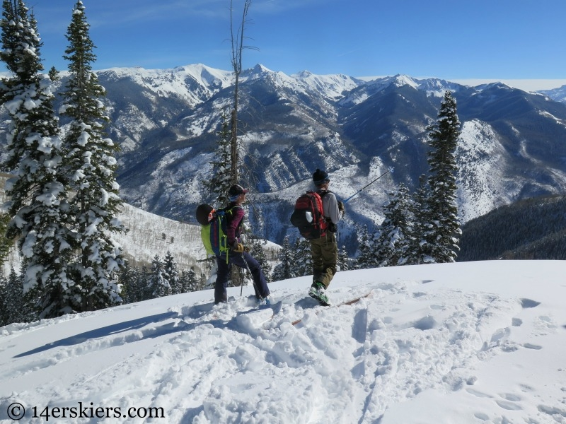 Views from Huntsman Ridge backcountry skiing.