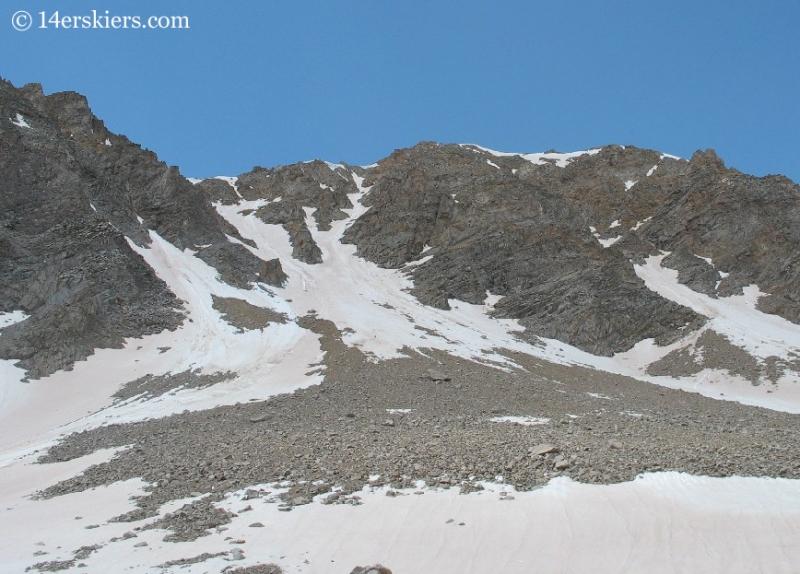 backcountry skiing on Huron Peak