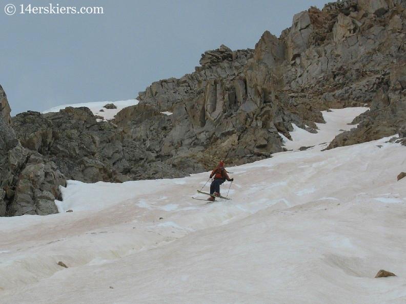 Frank Konsella backcountry skiing on Huron Peak.