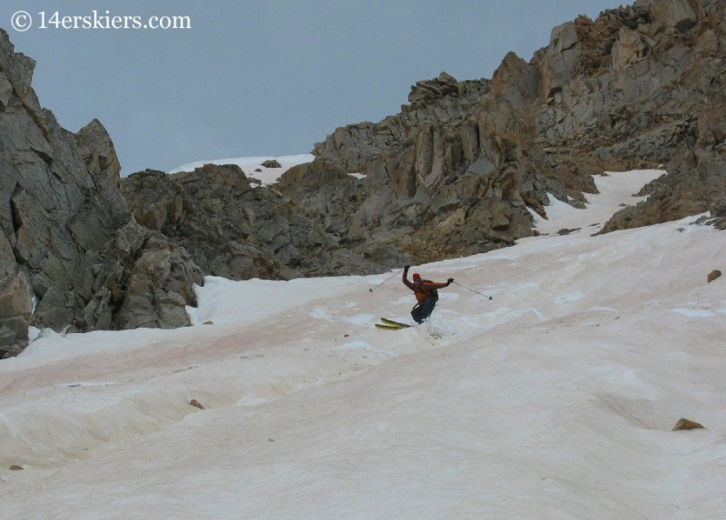 Frank Konsella backcountry skiing on Huron peak