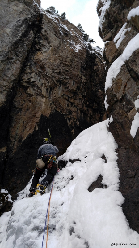 colorado ice climbing near crested butte