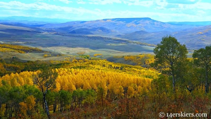 Fall mountain biking in Crested Butte.