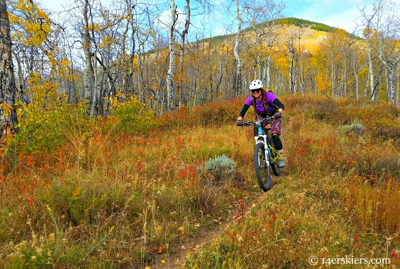 Fall mountain biking in Crested Butte.