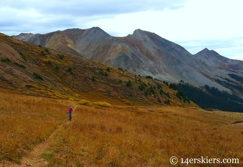Kristi Kagy mountain biking near Crested Butte.