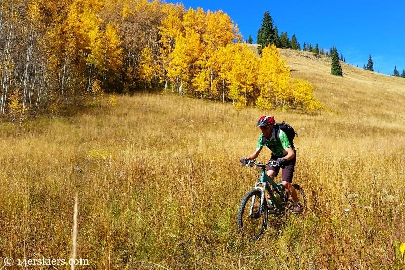 Mountain biking near Crested Butte.
